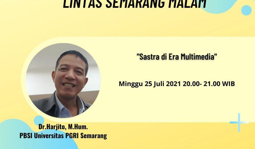 Dr. Harjito di RRI Pro 1 Semarang 2021